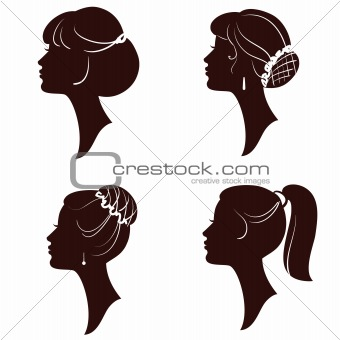 340x340 Image 3903416 Hairstyles,vector Beautiful Women And Girl