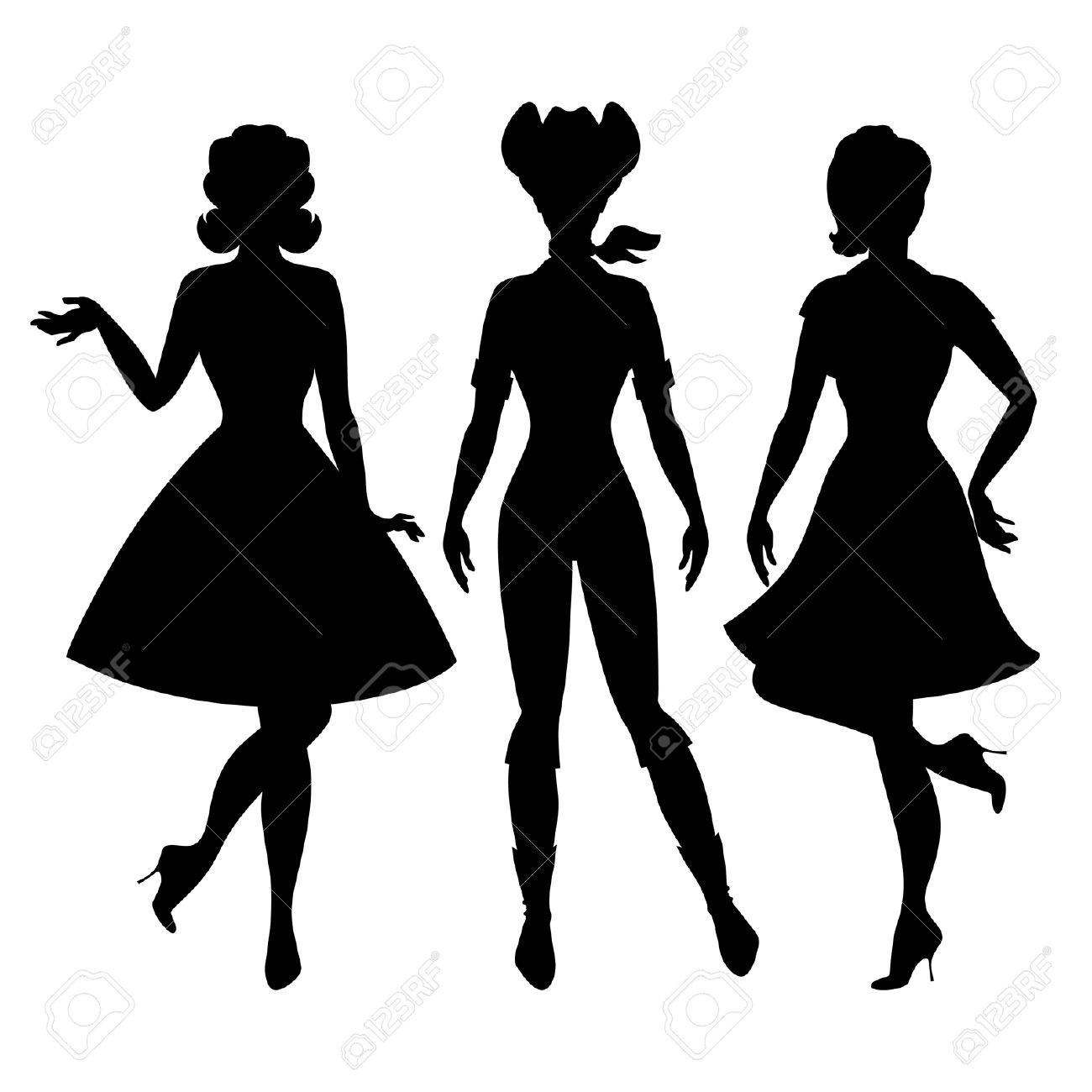 1300x1300 Pin Up Girl Silhouette Clipart Panda Free Images With Clip Art