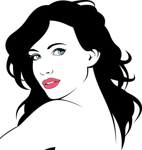 500x527 Beautiful Fashion Girl Silhouette Vector People Free Vector Free