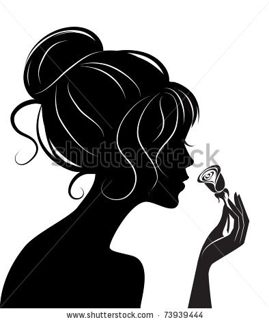 394x470 Beauty Girl Silhouette With Rose By De V, Via Shutterstock Gold