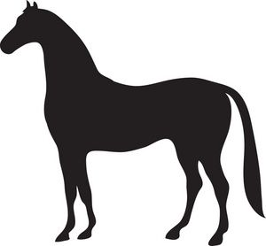 300x278 Free Horse Clip Art Image Black Silhouette Of A Beautiful Strong