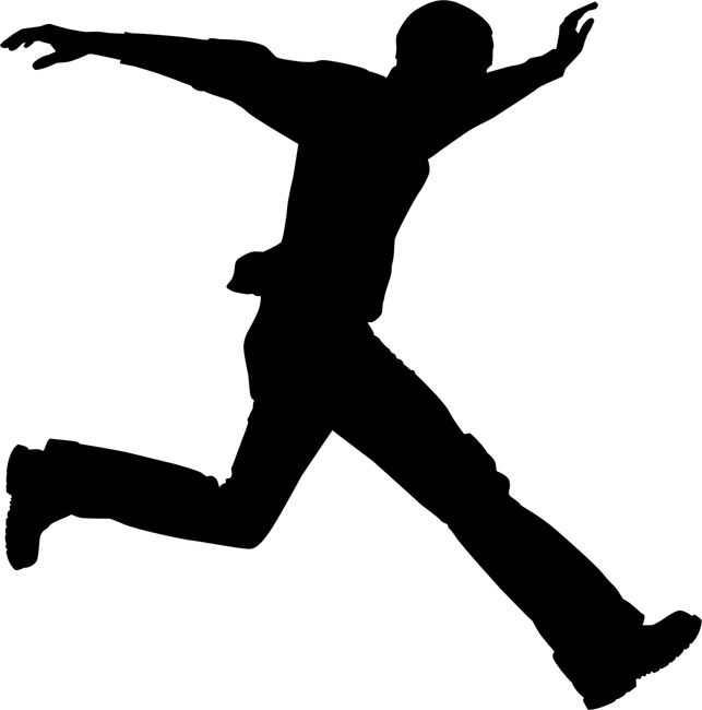 643x650 Person Running Away Silhouette Clipart