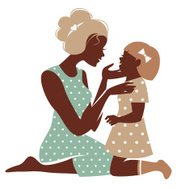 190x189 Beautiful Mother Silhouette With Baby Premium Clipart