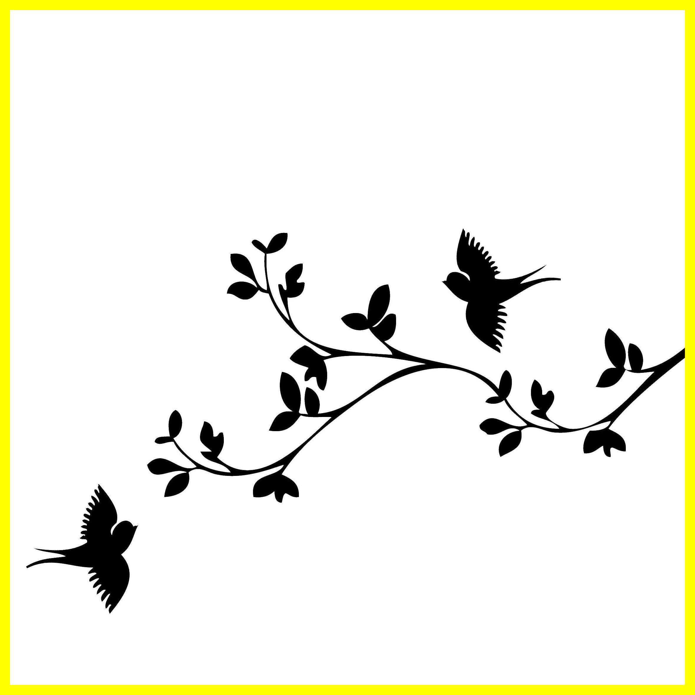 2360x2360 The Best Tree Branch Drawing Black And White Funerals For Bird