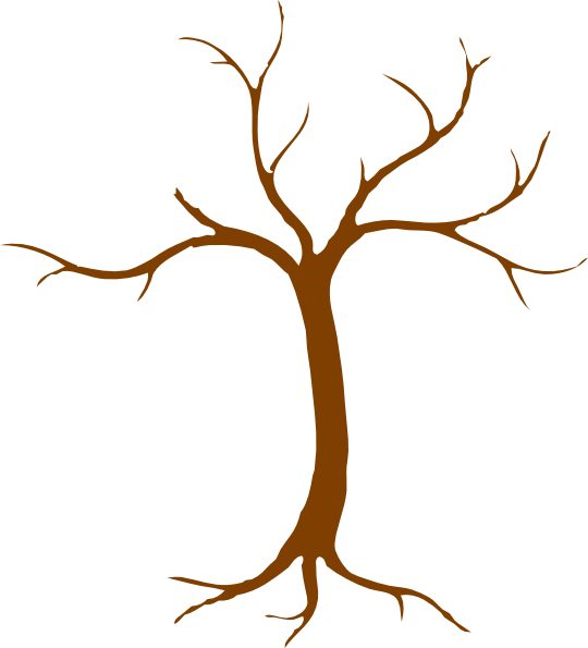 540x595 Tree Trunk Silhouette Clip Art