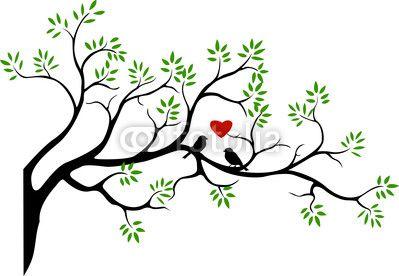 399x276 Tree Silhouette With Bird Love Couple Joma Ideas