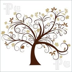 236x236 Abstract Tree Silhouette, Symbol Of Vector Illustration
