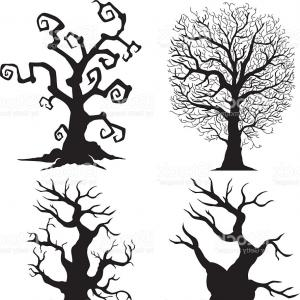 300x300 Beautiful Vector Tree Silhouette Icon For Websites Gm CreateMePink