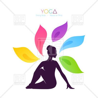 400x400 purple silhouette of beautiful woman doing yoga Royalty Free