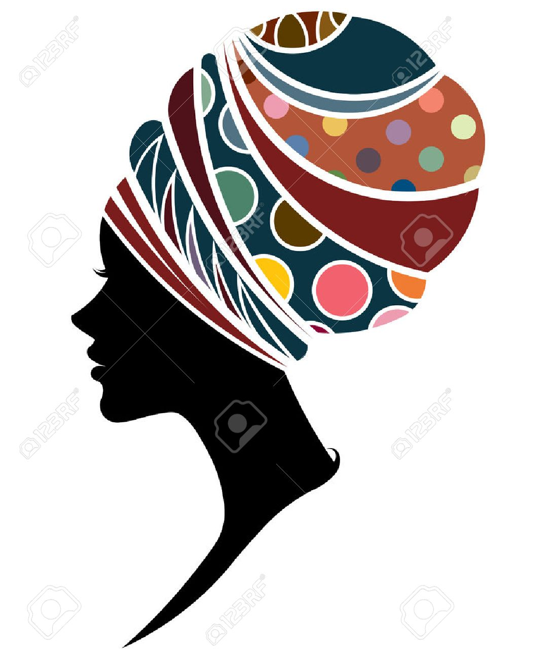 1099x1300 African Woman Silhouette