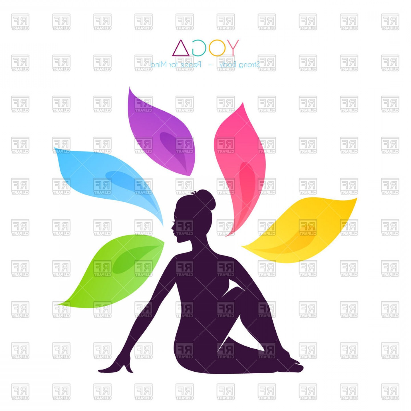 1440x1440 Purple Silhouette Of Beautiful Woman Doing Yoga Vector Clipart