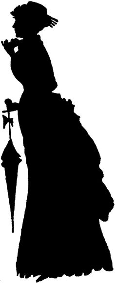 236x581 Southern Belle Hat Silhouette Clipart