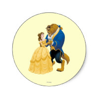 200x200 Beauty And The Beast Stickers Zazzle