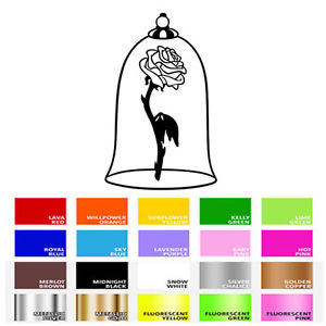 300x300 Beauty And The Beast Rose Inspired Silhouette Vinyl Decal