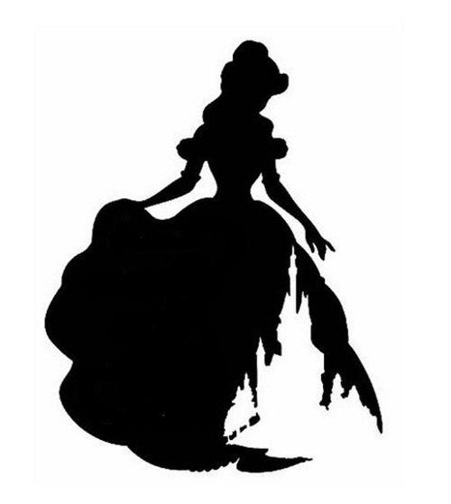 500x559 Disney Beauty And Beast Silhouette