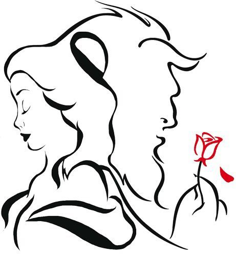 461x504 Beauty And The Beast Tattoo Idea