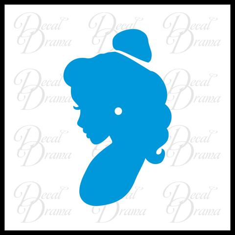 480x480 Belle Cameo Profile, Beauty Amp The Beast Inspired Fan Art Vinyl Car