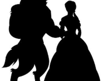 340x270 Svg, Beauty And The Beast Silhouette, True Beauty Lies Within