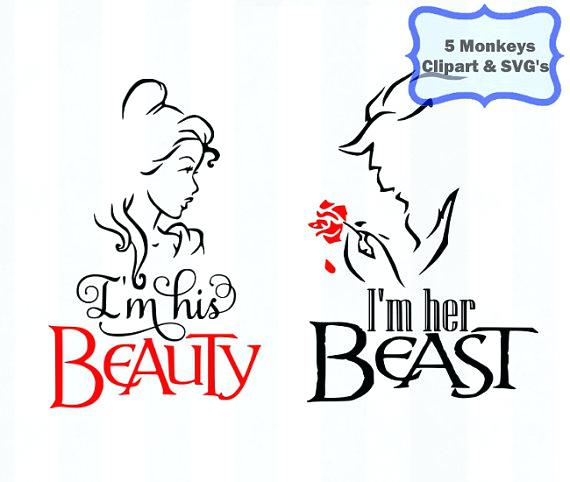 570x482 Beauty And The Beast Silhouette Together With Beauty And The Beast