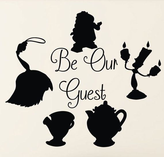 Beauty And The Beast Silhouette Clip Art
