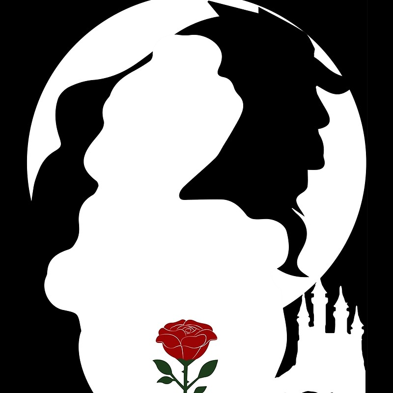 800x800 Beauty And The Beast Silhouette Throw Pillows By Suescreations