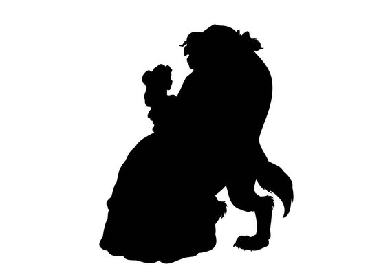 570x403 Beauty And The Beast Svg Clip Art In Svg Digital Format Eps