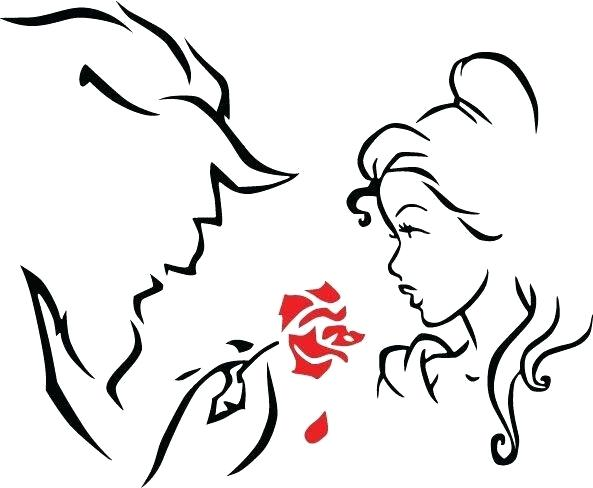 593x488 Beauty And The Beast Calendar Beast Beauty And The Beast Outline