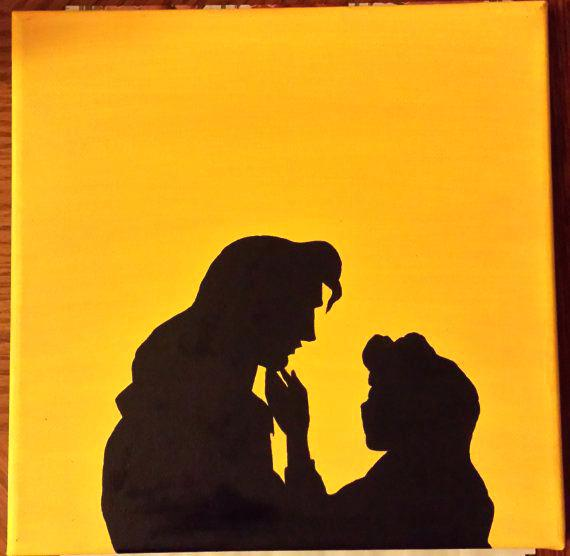 570x556 Beauty And The Beast Silhouette