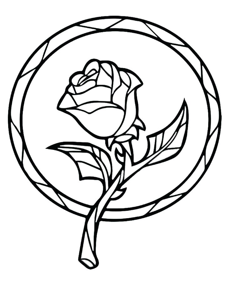 735x900 Beauty And The Beast Coloring Pages Rose Together With Pin By