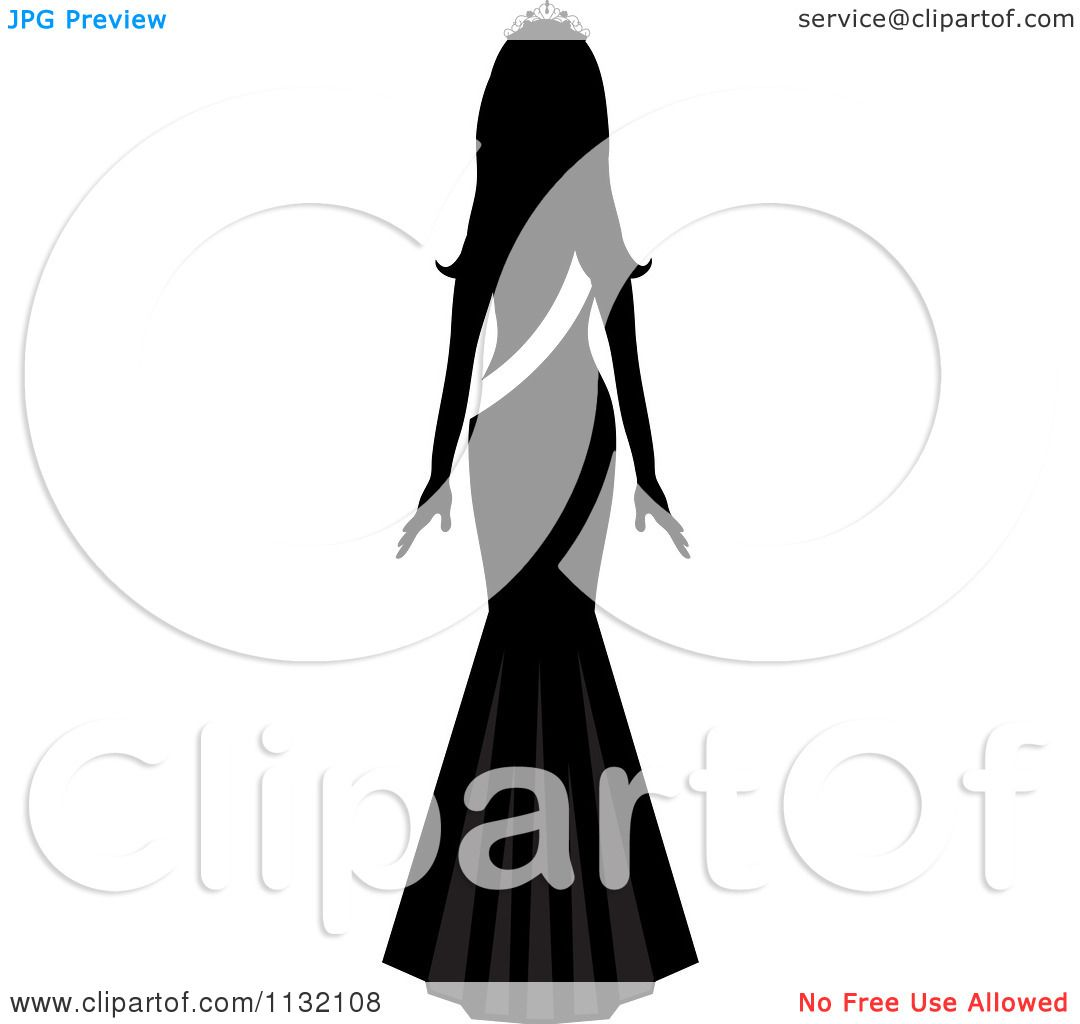 1080x1024 Clipart Of Silhouetted Missmerica Beauty Pageant Winner