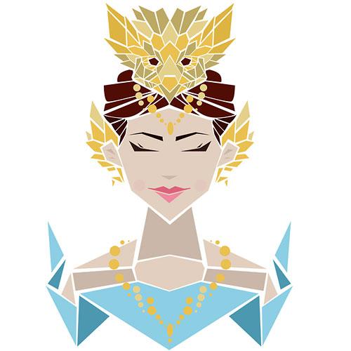 500x500 30 Inspiring Beauty Queen Illustrations