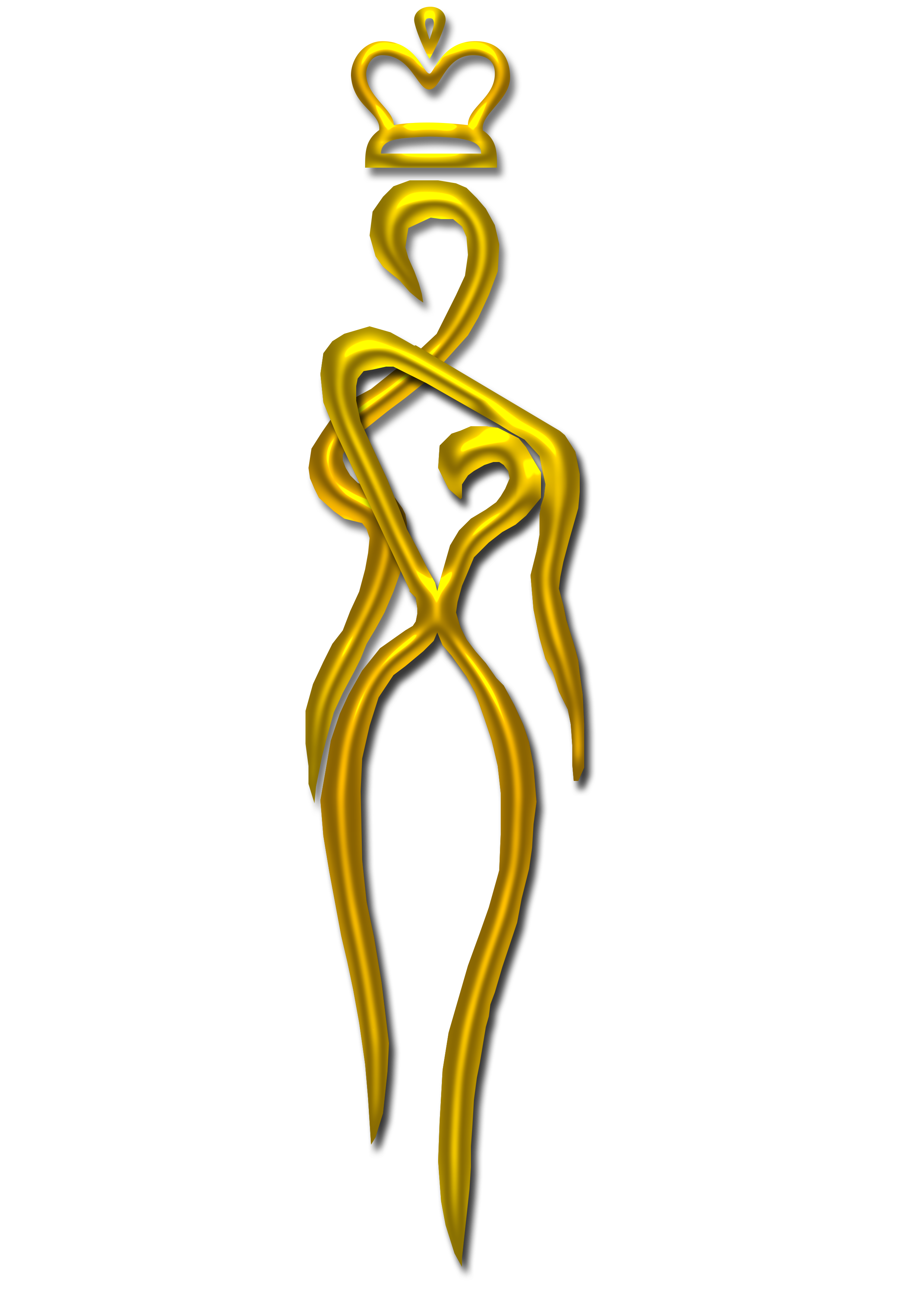 beauty queen silhouette at getdrawingscom free for