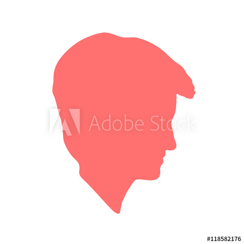 500x500 Isolated Crimson Color Women,man Side View Vector Logo. Beauty
