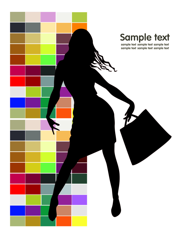 2071x2717 Fashion Shopping Beauty Silhouette 02 Vector Free Vector 4vector