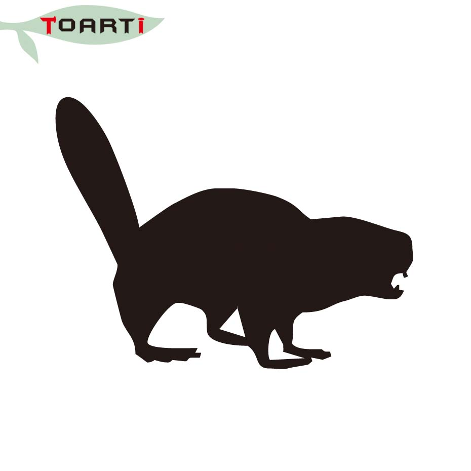 930x930 129cm Angry Beaver Funny Car Stickers Animals Silhouette Decor