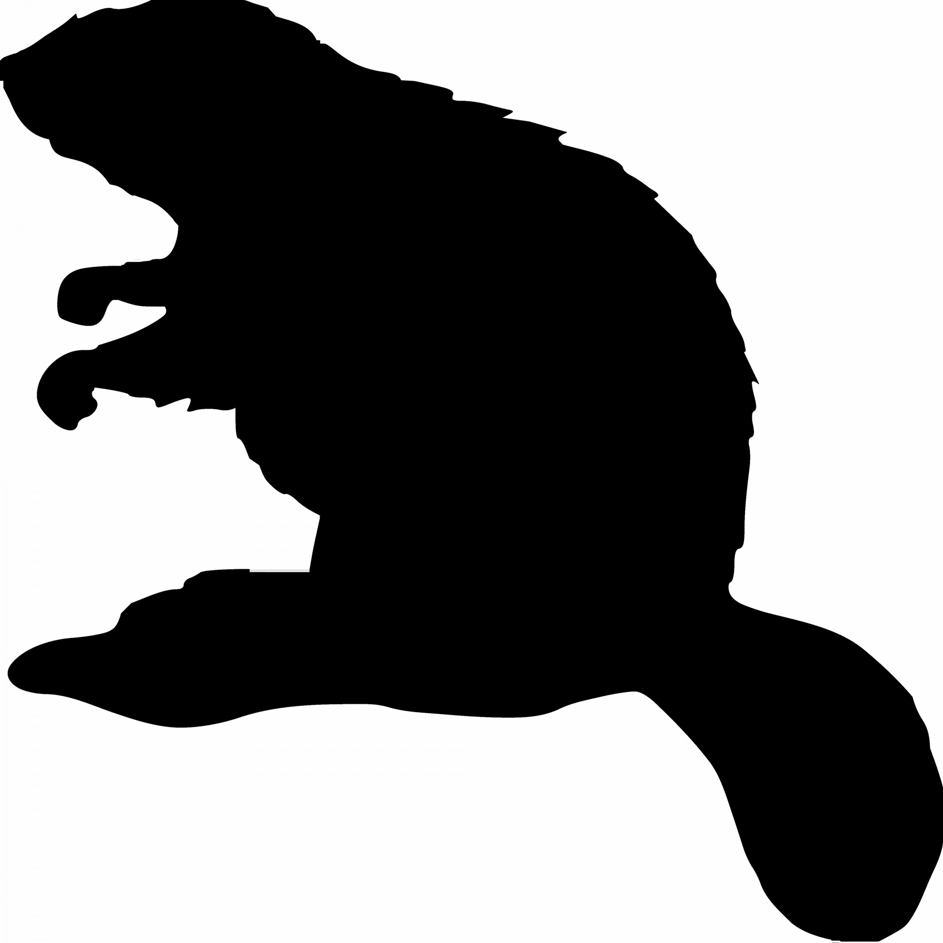 1920x1920 Beaver Silhouette Free Stock Photo