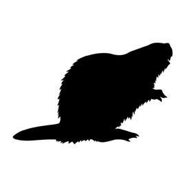 270x270 Beaver Silhouette Stencil Free Stencil Gallery