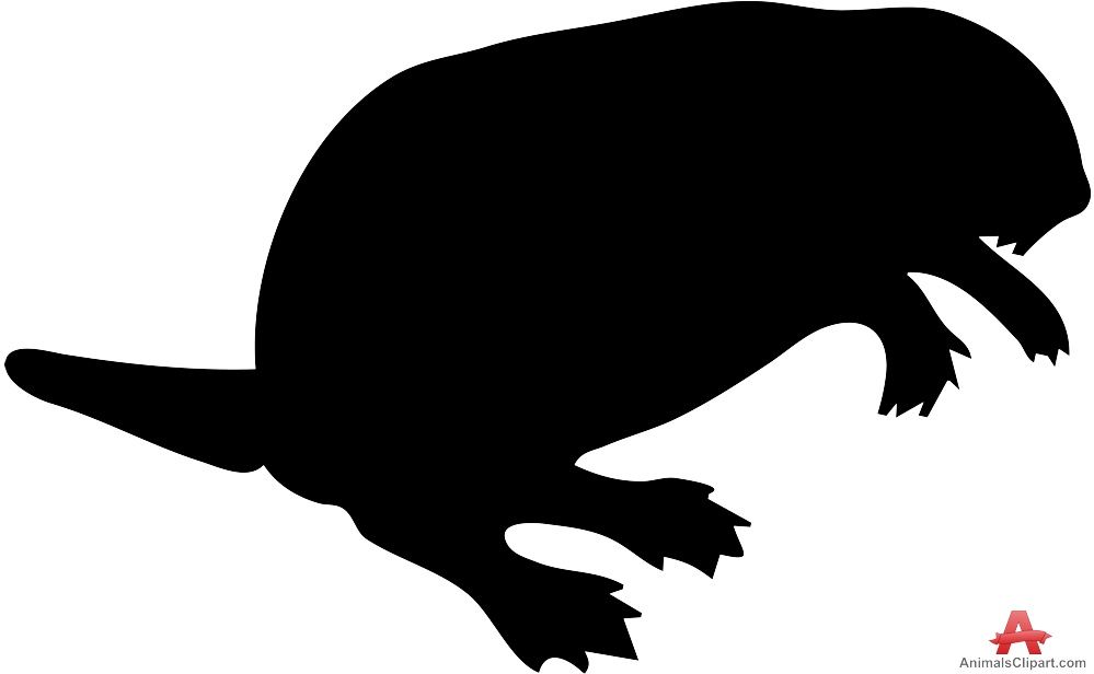999x616 Large Beaver Silhouette Free Clipart Design Download