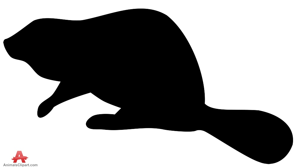 999x568 Beaver Silhouette Free Clipart Design Download