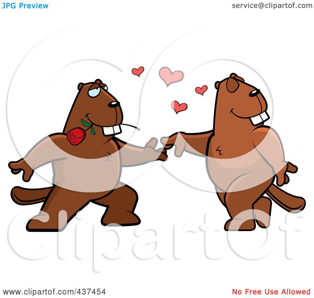 1080x1024 Royalty Free (Rf) Clipart Illustration Of Beaver Couple Doing
