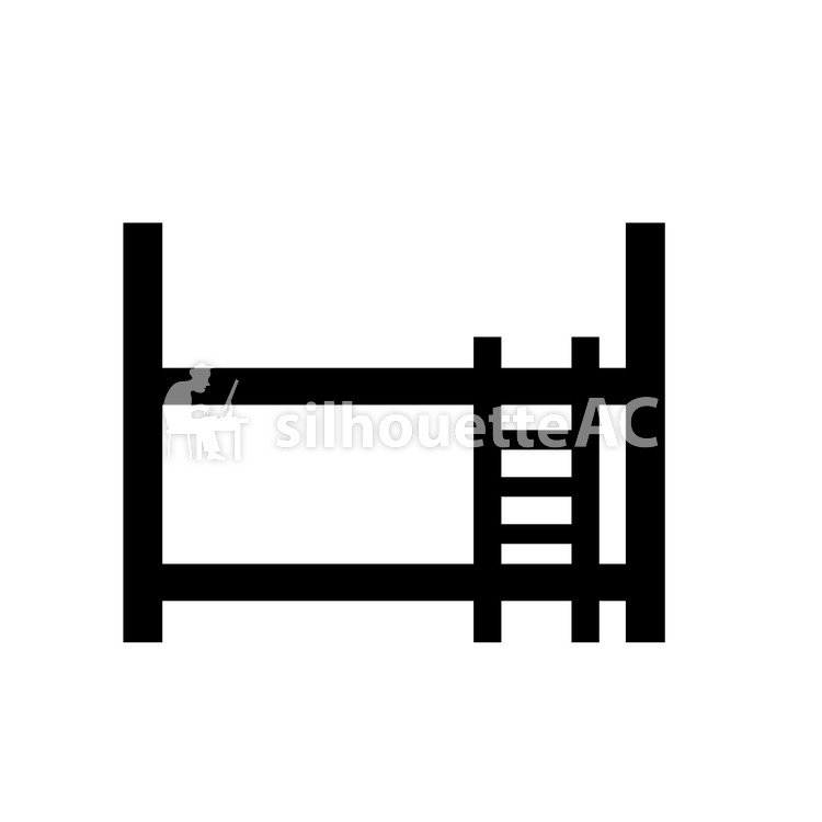 750x750 Free Silhouette Vector 2 Paragraphs, Bunk Bed