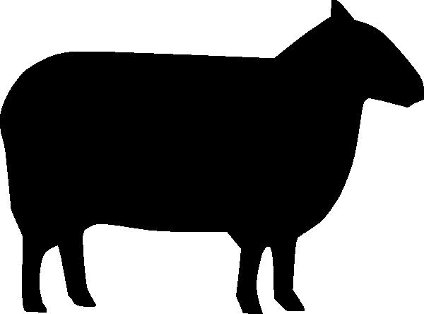 600x444 Sheep Silhouette Clip Art