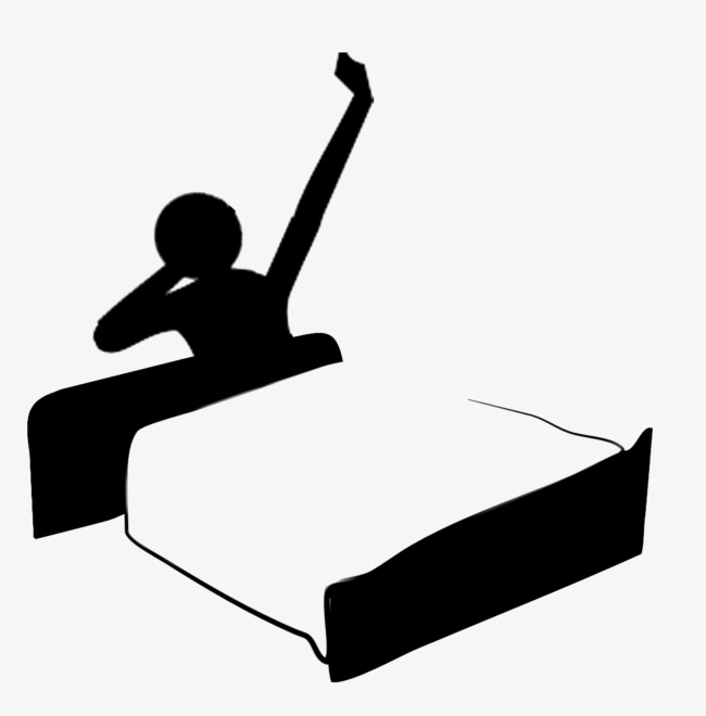 650x660 Wake Up Silhouette, Silhouette, Bed Silhouette Png And Psd File