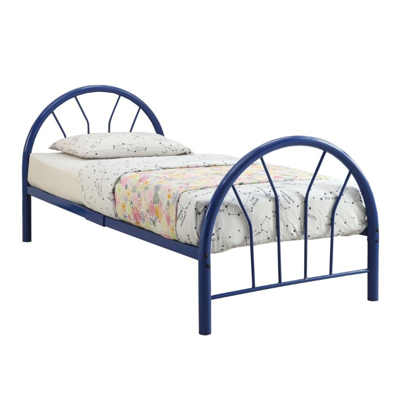 800x800 Acme Furniture Silhouette Twin Bed In Blue