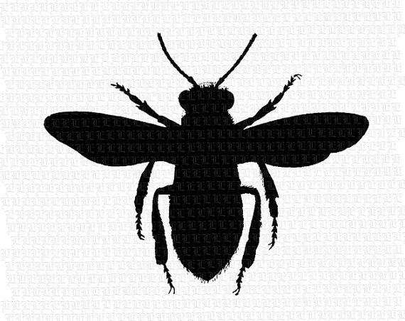 570x452 Digital Queen Bee Silhouette Printable High Quality Graphic