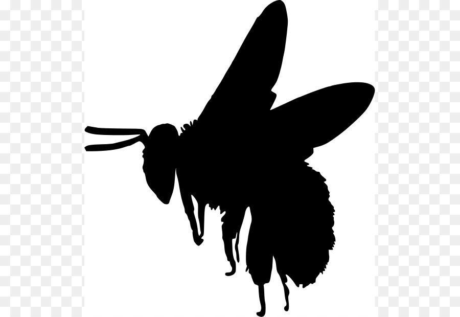 900x620 European Dark Bee Silhouette Bumblebee Clip Art