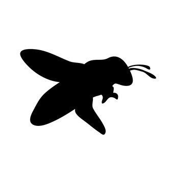 339x340 Free Silhouette Vector Bee, Asianigakubi, Up