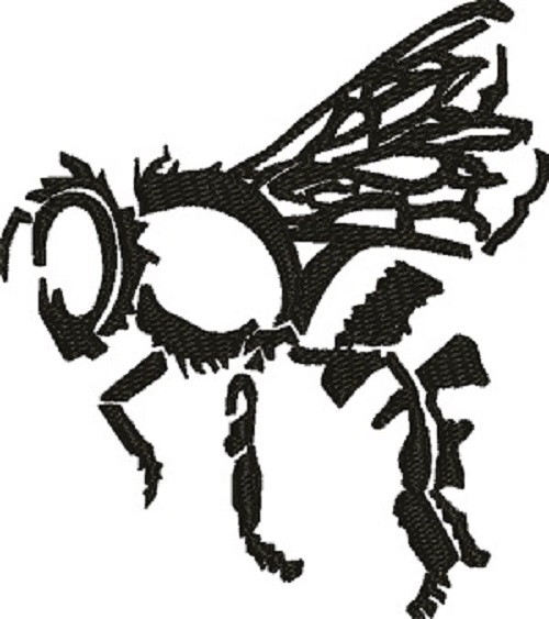 500x563 Bee Silhouette Machine Embroidery