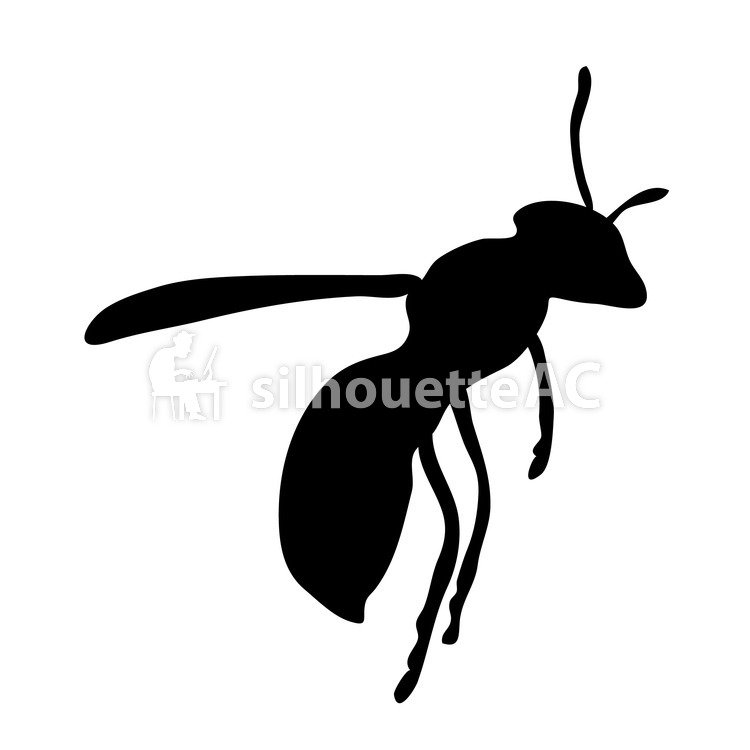 750x750 Free Silhouette Vector Bee, Asianigakubi, Up