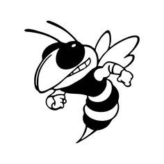 236x236 Killer Bee Graphics Svg Dxf Eps Png Cdr Ai Pdf Vector Art Clipart